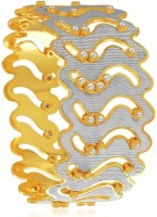 Sukkhi Elegant Dancing Stone Alloy 18K Yellow Gold, Rhodium Plated Bangle