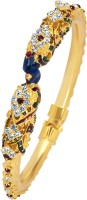 VK Jewels Splendid Mayur Alloy 18K Yellow Gold Plated Kada