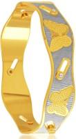 Sukkhi Gleaming Dancing Stone Alloy 18K Yellow Gold, Rhodium Plated Bangle
