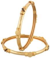 Vama Fashions Alloy Cubic Zirconia Rhodium Bangle Set Pack Of 2 - BBAEEYGPG4KQX6GT