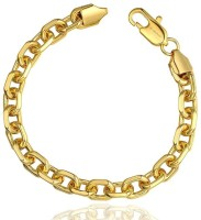 Aaishwarya Golden Chain Mens Alloy 18K Yellow Gold Bracelet