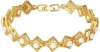 Mahi Alloy Pearl 24K Yellow Gold Bracelet