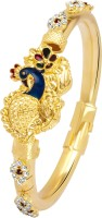 VK Jewels Charming Mayur Alloy 18K Yellow Gold Plated Kada
