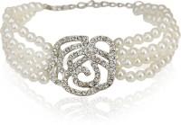The Pari Designer Alloy Rhodium Plated Bracelet