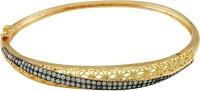 The Art Jewellery Matt Finish CZ Stones Brass Cubic Zirconia 18K Yellow Gold Plated Bracelet