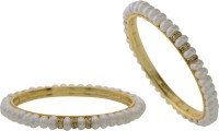 Hyderabad Jewels Alloy, Silver Pearl Rhodium Plated Bangle Set Pack Of 2 - BBAE3YU8FGZHWXZZ