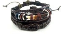 Streetsoul Lion Nail Leather Bracelet Set Pack Of 2