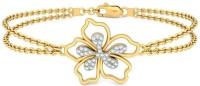 BlueStone The Tranquil Hibiscus Yellow Gold 14kt Diamond Bracelet