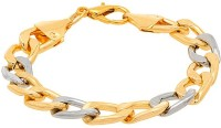 D&D Fashionable Beautiful Dual Tone Of Gold And Silver Alloy Silver, Yellow Gold Plated Bracelet