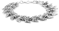 Voylla Artifictial Classic Oxidised Alloy Silver Plated Bracelet - BBAE7MBRUVJSKMKN