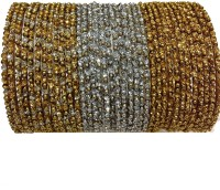 Newsantosh TH 36 Golden Silver Antic Metal Bangle Set (Pack Of 36)