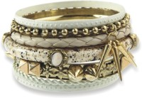 Milady Avenue Milady Avenue Tribal Multi Design Bracelet Set Alloy Brass Bracelet Set (Pack Of 7)