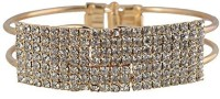 NK Jewels Metal Cubic Zirconia Yellow Gold Bracelet