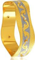 Sukkhi Bewitching Dancing Stone Alloy 18K Yellow Gold, Rhodium Plated Bangle