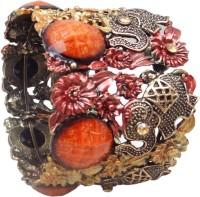 Hi Look Studded Alloy Rose Gold Plated Bracelet