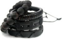 Streetsoul Valuepack 11 Leather Bracelet Set Pack Of 4