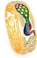 Sukkhi Alluring Meenakari Peacock Copper 18K Yellow Gold Plated Bangle