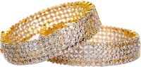 Rein Lifestyles Hazel Brass 8K Yellow Gold Plated Bangle Set Pack Of 2