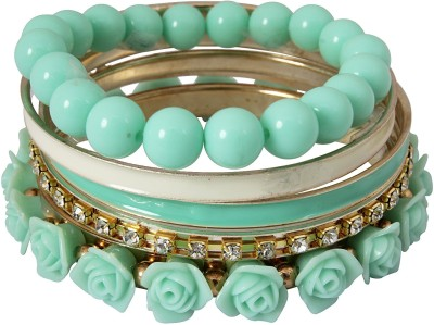 Crunchy Fashion Alloy, Resin Bangle Set - Pack Of 6 - BBAEY9PZ3VXMMQMC