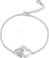 NEVI Metal, Crystal Crystal, Swarovski Crystal Rhodium Bracelet