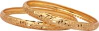 Sharani Yellow Gold 22K Yellow Gold 22 Bangle Pack Of 2