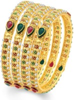 Sukkhi Sublime Traditional Alloy 24K Yellow Gold Plated Bangle Set Pack Of 4