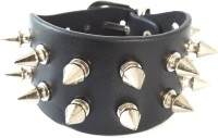 Ammvi Creations Studded Spikes Strap For Men Leather Bracelet