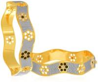 Sukkhi Amazing Dancing Stone Alloy 18K Yellow Gold, Rhodium Plated Bangle Set Pack Of 2