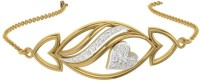 TBZTheOriginal TBZ - The Original 18KT Yellow Gold Love Heart Loose Bracelet With 0.11cts Diamonds Yellow Gold 18kt Diamond Bracelet