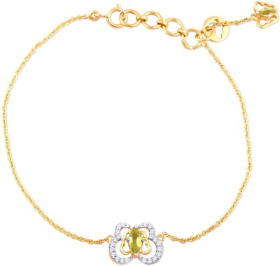 Malabar Gold And Diamonds BC651013 Yellow Gold 18kt Diamond Bracelet