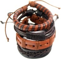 Streetsoul Value Pack 107 Leather Bracelet Set Pack Of 4
