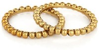 Ratnkar Hand Picked Golden Balls Alloy Yellow Gold Bangle Set (Pack Of 2)