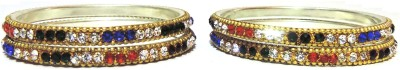 Alloy Aadhya B01_52 Brass, Alloy, Lac, Stone Bangle Set (Multicolor)