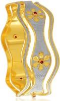 Sukkhi Stylish Dancing Stone Alloy 18K Yellow Gold, Rhodium Plated Bangle