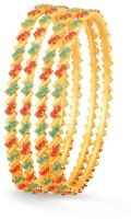 Sukkhi Marvellous Coral Copper 18K Yellow Gold Plated Bangle Set Pack Of 4