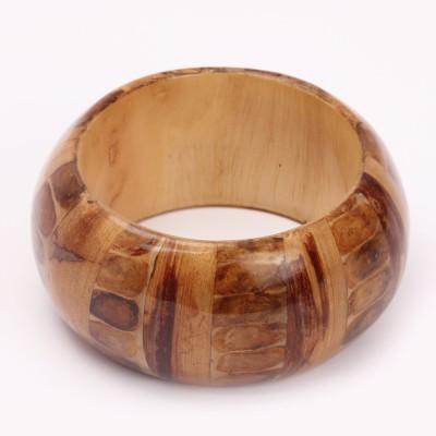 KhoobSurati Stunning Broad Wood Bangle