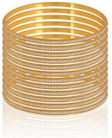 Fashion Fusion BS010001 Alloy Yellow Gold Bangle Set (Pack Of 12)