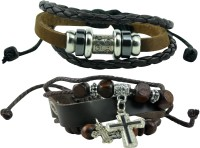 Alphaman AM_CLB_TMPB Leather Bracelet Set Pack Of 2