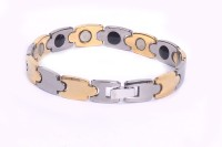 Nature Therapy Stylish Tungsten With Magnetic Healing Metal Titanium Plated Bracelet - BBAE794GU5HCZVRB