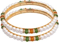 Classique Designer Jewellery Alloy Crystal Rhodium Plated Bangle Set Pack Of 2 - BBAEFKN6VFAKFVVR