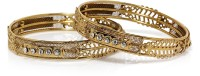 Bindhani Gold Plated Brass Yellow Gold Plated Bangle Set Pack Of 2