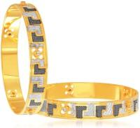 Sukkhi Stunning Dancing Stone Alloy 18K Yellow Gold, Rhodium Plated Bangle Set Pack Of 2