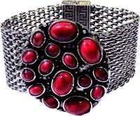 Optionsz Designer Alloy Silver Plated Bracelet