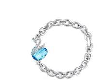 NEVI Swan Alloy, Crystal Swarovski Crystal, Crystal Bracelet