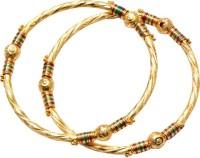 Ratnakar Golden Regular Copper Yellow Gold Plated Bangle Set Pack Of 2