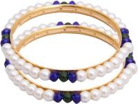 Classique Designer Jewellery Alloy Crystal Rhodium Plated Bangle Set Pack Of 2 - BBAEFKN65STZJYXQ