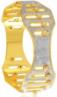 Sukkhi Alluring Dancing Stone Alloy 18K Yellow Gold, Rhodium Plated Bangle