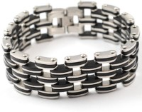 Vaishnavi Two Tone Titanium Finish 316l Stainless Steel Bracelet