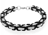 Vaishnavi Korean Made First Quality Two Tone Cubic Zirconia Non-Allergic 316l Surgical Stainless Steel Bracelet