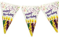 Planet Jashn Planet Jashn Happy Birthday Candles Buntings Pennant Flag (8 Ft, Pack Of 1)